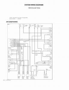 hvac wiring diagram for 1995 caprice 1995 chevrolet tahoe system wiring diagrams air conditioning circuits schematic wiring