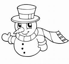 Schneemann Ausmalbild Einfach Schneemann Zum Ausmalen Malvorlagen