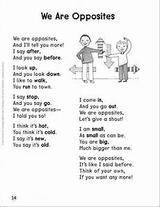 poetry meaning worksheets 25323 common opposites in you should opposites preschool poems learn