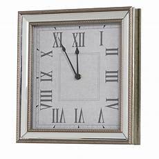 square mirror framed wall clock mulberry moon