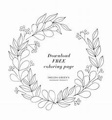 Neujahr Malvorlagen Januarie January Floral Wreath Downloadable Colouring Page 1 In