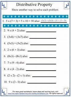 distributive property worksheet 1