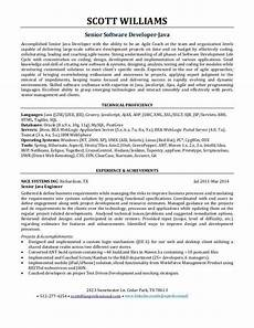 java architect resume of how to write software engineer