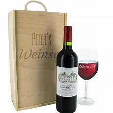 Le Aus Weinflasche - set aus weinflasche und weinglas mit gravur ein