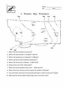 weather map worksheets 6th grade 14617 a weather map worksheet lesson plan for 6th 8th grade lesson planet