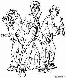 coloriage harry hermione et dessin