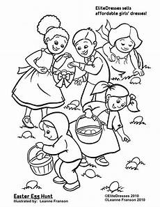 Easter Egg Hunt Coloring Sheets Easter Egg Hunt Coloring Pages Free Printable Coloring