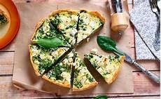 rezept frischer spinat quiche mit frischem blattspinat und schafk 228 se at