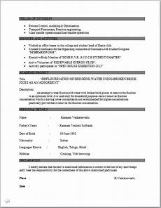 resume blog co resume sle of bachelor of technology in chemical engineering fresher