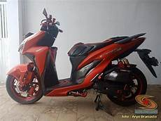 Modifikasi All New Vario 150 by Modifikasi All New Honda Vario 150 Merah Merona Ala Sultan