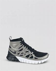 nike lace up high top sneakers womens free run 2 mid in