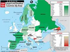 area top europe largest and smallest countries in europe by area