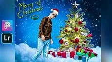 picsart merry christmas photo editing christmas editing in lightroom mobile aasif creations