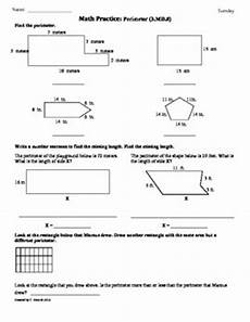 3 md 8 perimeter 3rd grade common core math worksheets