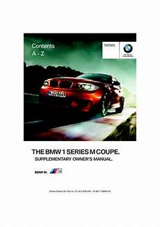 auto manual repair 2011 bmw 1 series auto manual 2011 bmw 1 series m coupe owner s manual pdf 48 pages