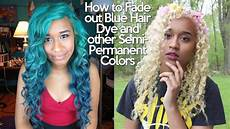 Blue Hair How To how to fade out blue hair dye and other semipermanent