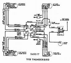 ford thunderbird 1958 windows wiring diagram all about