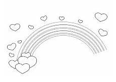 Ausmalbild Regenbogen Herz Malvorlagen F 252 R Verliebte Zum Thema Liebe