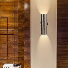 geekeep modern led wall light waterproof up and down cylinder wall sconce l wall mounted