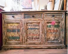 credenza colorata credenza legno recycle colorata nuovimondi outlet prezzo