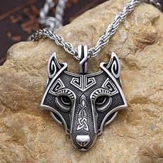 3colors norse vikings pendant necklace nordic celtic wolf