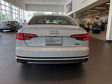 Rear View Of The Ibis White 2018 Audi A4 Located At