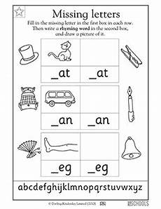 3 letter rhyming words worksheets for kindergarten 23526 kindergarten preschool reading writing worksheets missing letters at an and eg