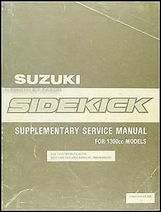 automotive repair manual 1989 suzuki sidekick free book repair manuals 1989 suzuki sidekick 1300cc repair shop manual supplement original