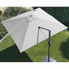 parasol deporte orientable 360 parasol d 233 port 233 orientable aluminium 3x3 m blanc gamm vert