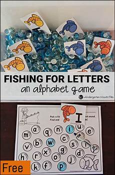 fishing for letters an alphabet game the kindergarten connection