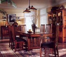 mission arts and crafts decor furniture dining room