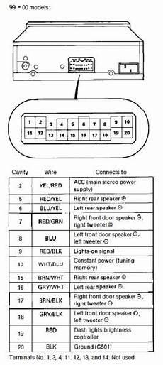99 00 oem radio harness diagram honda tech