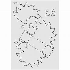 design schablone nr 7 quot igel box quot din a4 igel