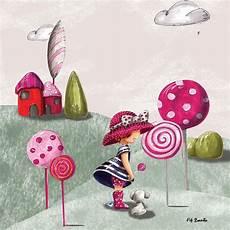 tableau enfant sur toile 35x35cm lollipop artmosphere la