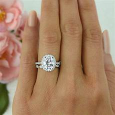 3 25 ctw vintage style bridal oval halo ring man made