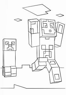 Zauberer Malvorlagen Minecraft Minecraft Steve And Creeper Coloring Page Free Printable