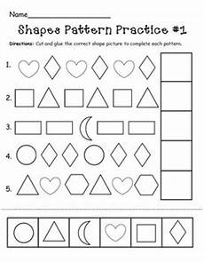 picture patterns worksheets pdf 433 shapes pattern practice page by the mcgrew crew tpt