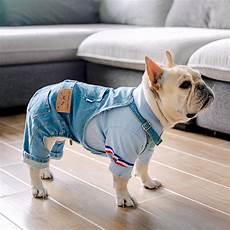bulldog clothes for dogs redd denim bulldog overalls adjustable fit six