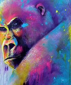 Tableau De Gorille Peinture Artistique De Gorille Toile