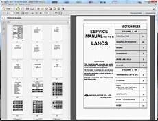 car repair manuals online free 2001 daewoo lanos interior lighting 2001 daewoo lanos workshop manuals free pdf download daewoo lanos service manual download