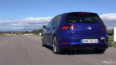 2017 vw golf r w akrapovic exhaust sound acceleration