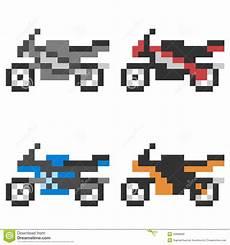 Illustration Pixel Icon Motorcycle Stock Vector
