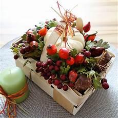 Diy Herbstdeko Gesteck Im K 246 Rbchen Perlenkuchen