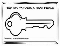 the key to being a the key to being a good friend worksheet with images