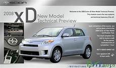 free auto repair manuals 2008 scion xd instrument cluster cd training scion xd 2008 technical preview automotive heavy equipment electronic parts