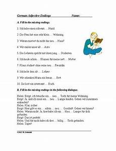 german dative worksheets 19628 german adjective endings worksheet and handout by language resources by
