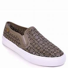 burch perforated slip on sneaker in blue lyst