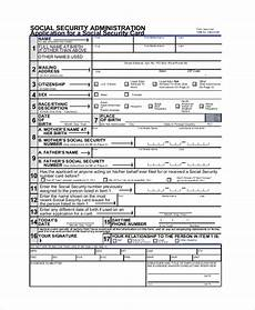sle social security application form 8 exles in pdf