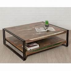Table Basse Carr 233 En Teck Industriel Quot Loft Quot 120cm Marron