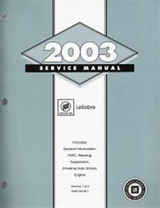 small engine service manuals 2003 buick lesabre regenerative braking 2003 buick lesabre factory service manual 2 vol set